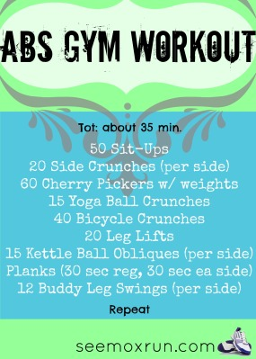 ab gym workout