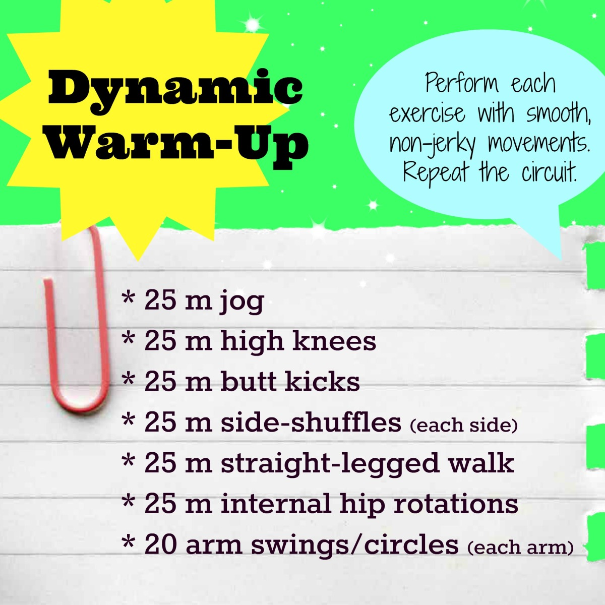 Don't Skimp on the Warm-Up!
